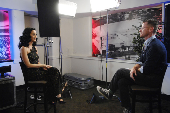 Katy Perry being interviewed by Marc Malkin - Getty Images