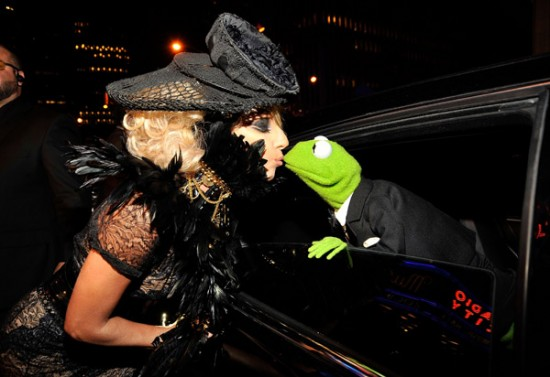 Lady GaGa and Kermit the Frog - Wireimage