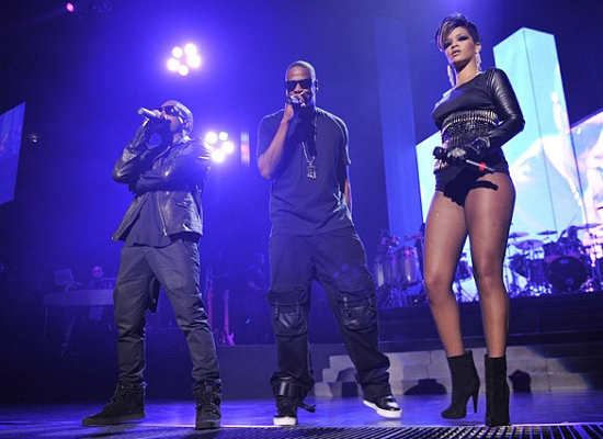 Kanye West, Jay-Z and Rihanna perform - Wireimage