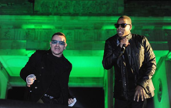 Bono of U2 with Jay-Z - Wireimage