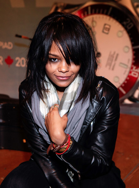 fefe dobson performs at omega countdown to 2010 olympic
