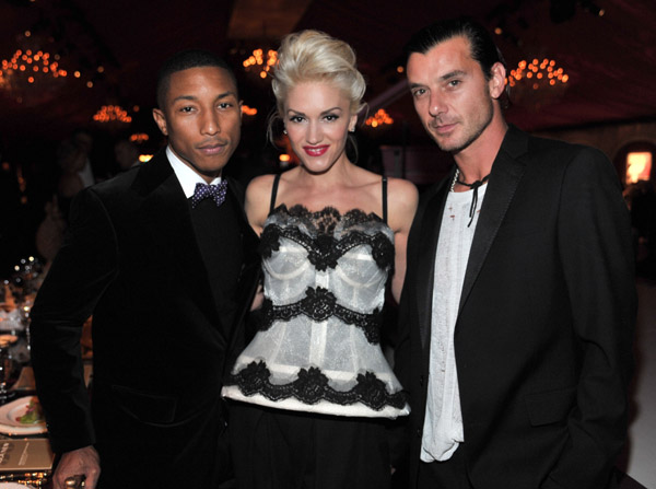 Pharrell Williams, Gwen Stefani, Gavin Rossdale - Wireimage