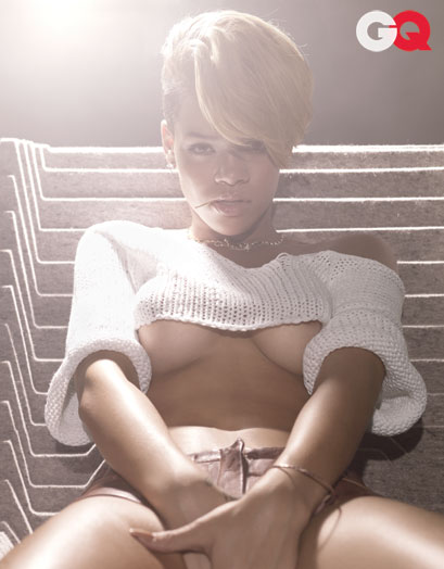 rihanna magazine gq. Rihanna Goes Topless For GQ