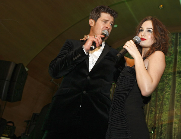 Robin Thicke and Leighton Meester - Getty Images