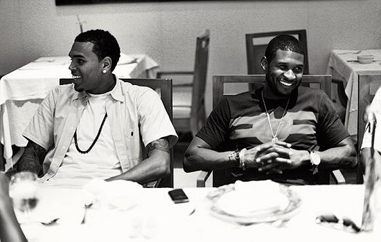 Chris Brown and Usher - Twitpic