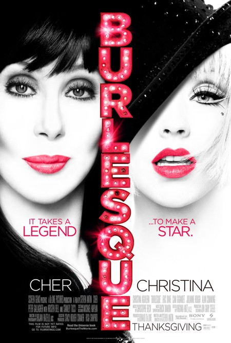 Cher and Christina Aguilera for Burlesque (click to enlarge)