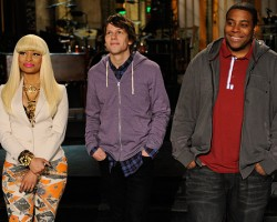 Nicki Minaj, Jesse Eisenberg, Kenan Thompson - NBC via Entertainment Weekly
