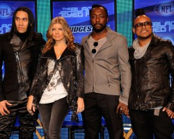 Black Eyed Peas attend Super Bowl XLV halftime show press conference