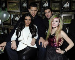 Kris Humphries, Kim Kardashian, Brody Jenner and Avril Lavigne - Wireimage