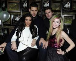 Kris Humphries, Kim Kardashian, Brody Jenner and Avril Lavigne - Wireimage