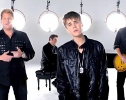 "Justin Bieber and Rascal Flatts in ""That Should Be Me"""