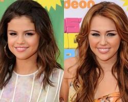 Selena Gomez, Miley Cyrus - Getty Images