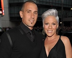 Carey Hart and Pink - Wireimage