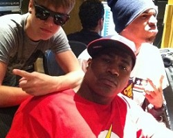 Justin Bieber, David Banner, and Chris Brown