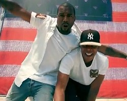 "Kanye West and Jay-Z in ""Otis"""