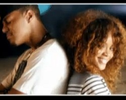 "J. Cole and Rihanna in ""Can't Get Enough"""