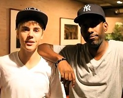 Justin Bieber and Shawn Stockman