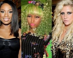 Jennifer Hudson, Nicki Minaj, Ke$ha - Wireimage/Twitter