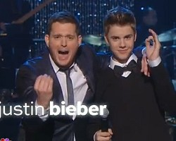 Michael Buble and Justin Bieber