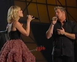 Natasha Bedingfield and Gary LeVox of Rascal Flatts