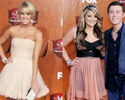Carrie Underwood, Lauren Alaina, Scotty McCreery - Wireimage