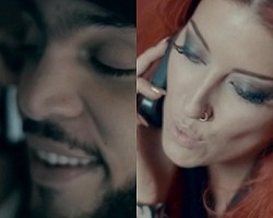 "Travie McCoy and Neon Hitch in ""Ass Back Home"""