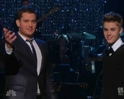 Michael Bublé and Justin Bieber