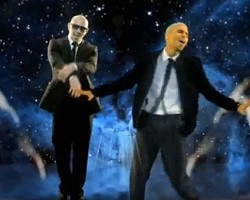 "Pitbull and Chris Brown in ""International Love"""