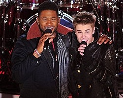 Usher and Justin Bieber - Wireimage