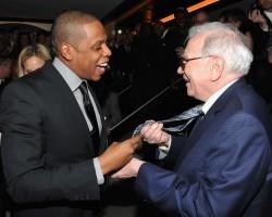 Jay-Z and Warren Buffett - Getty