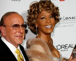 Clive Davis and Whitney Houston in Feb. 2007 - Getty