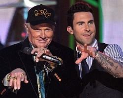Mike Love and Adam Levine - Getty