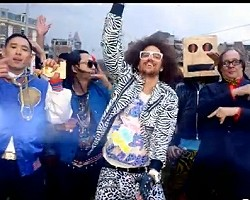 "Far East Movement, RedFoo of LMFAO in ""Live My Life"""