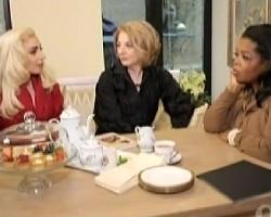 Lady Gaga, her mom Cynthia, Oprah