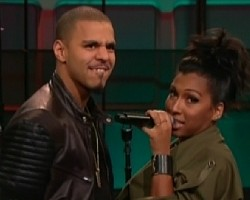 J. Cole and Melanie Fiona