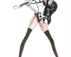 Lady Gaga BTW Ball Costume 1