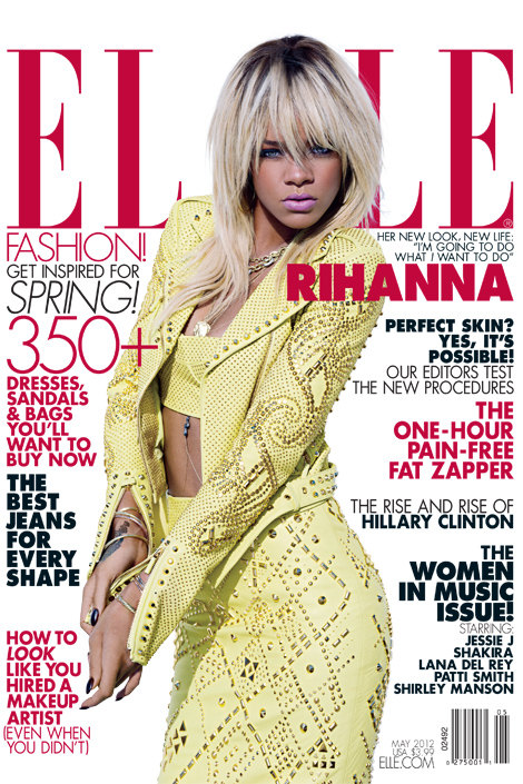 Rihanna Covers Elle Magazine; Talks Chris Brown, Kids, And