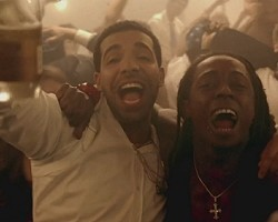"Drake and Lil Wayne in ""HYFR"""