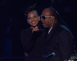 Alicia Keys and Stevie Wonder