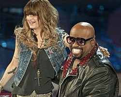 Juliet Simms and Cee-Lo Green - NBC