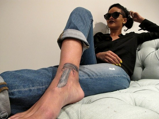 Rihanna - Eastside Ink via Rihanna Daily