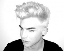 Adam Lambert with blonde hair 2012