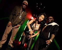 "Nicki Minaj, Camron, and Rick Ross in ""I Am Your Leader"""