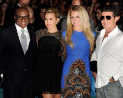 LA Reid, Demo Lovato, Britney Spears, Simon Cowell - Getty