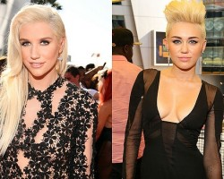 Ke$ha, Miley Cyrus - Getty
