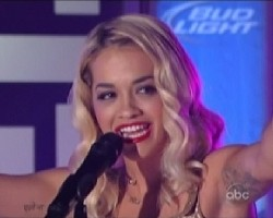 Rita Ora performs on Jimmy Kimmel Live