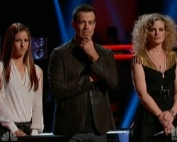 Cassadee Pope, Carson Daly and Suzanna Choffel