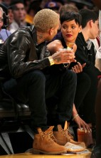Rihanna Chris Brown Lakers 2