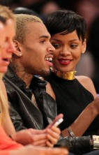 Rihanna Chris Brown Lakers 3