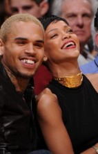 Rihanna Chris Brown Lakers 5